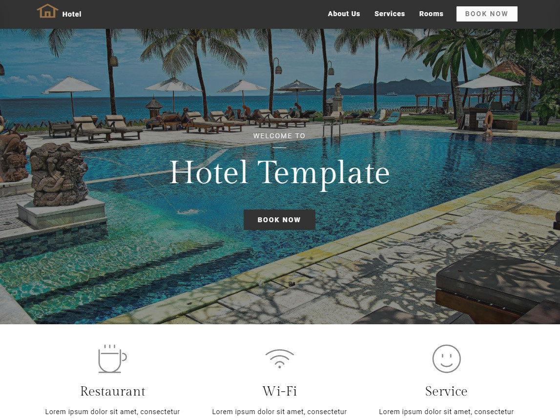 8b | Hotel Website Design! flat animation vector blue illustration icons typography logo website web ux ui mobile minimal icon app design clean branding brand