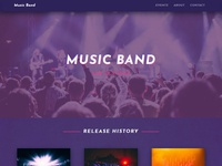 8b Easy Website Builder | Music Website Template!