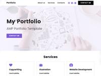8b | HTML Portfolio Template!