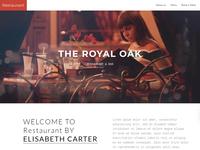 8b Simple Website Builder | Restaurant Website Design!