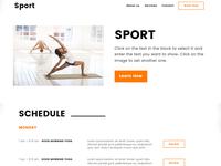 8b Easy Website Builder | Sport Template!