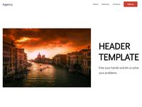 8b Easy Website Builder | Header Template!