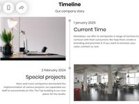 8b Online Website builder | Timeline Template!