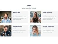 8b Online Website Builder | Team Template!