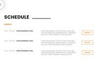 8b Easy Website Builder | Schedule Example!