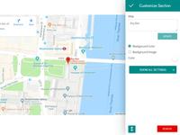 8b Online Website Builder | Google Map Template!