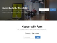 8b Online Website Builder | Subscription Form Examples!