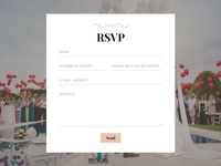 8b Online Website Builder | RSVP Form Example!