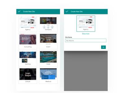 8b Website Builder - Picking a template