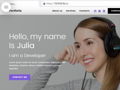 8b Easy Website Builder   Create your Portfolio! responsive html5 html css website ux ui web mobile design clean