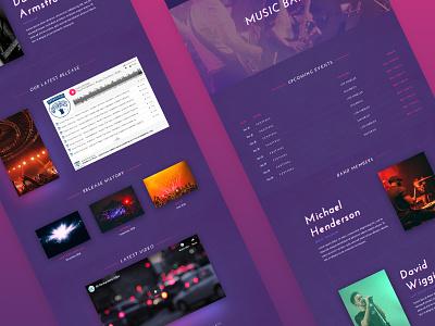 8b Best Website Builder For Musicians responsive html css html5 ui ux website design mobile web clean