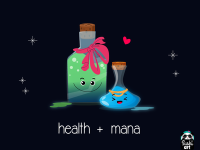 health and mana potions to help you get through the day