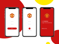 Manchester United Fan APP Login page