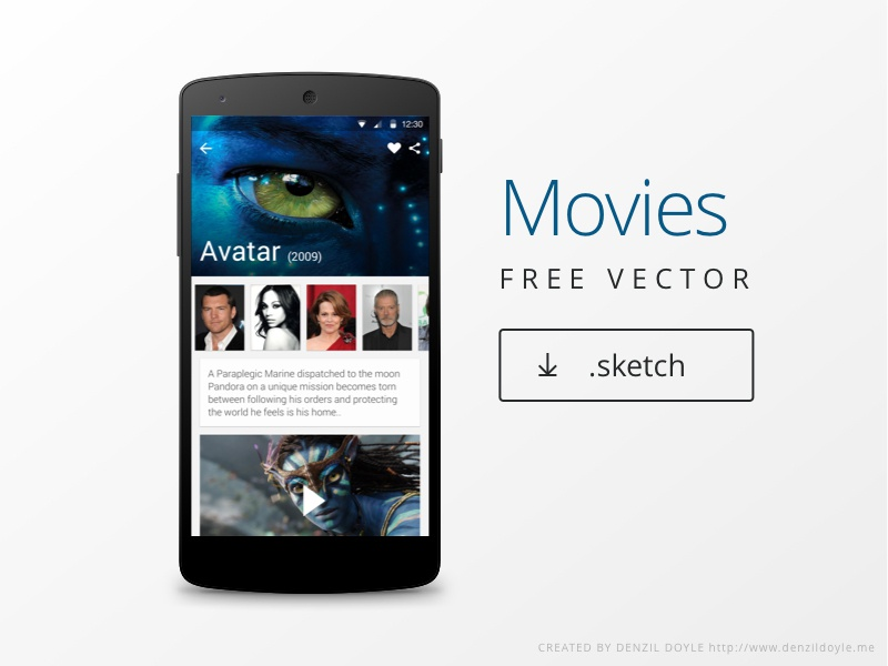 Movies material design material design freebie sketch