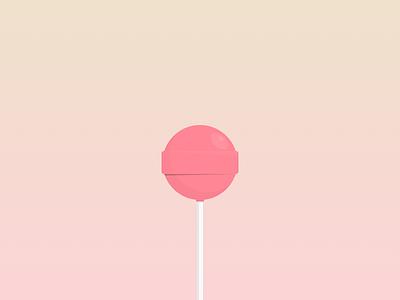 Lollipop treat strawberry pink lollipop juicy flavor candy dribbble vector illustration