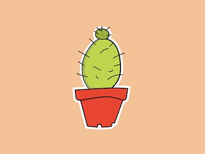 Cactus sticker sticker plant cactus