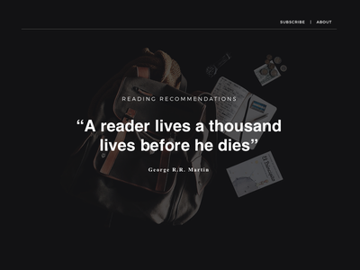 Articles - Recommendations web typography thumbnails minimal digital clean css html