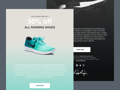 Shoe Store - Email Newsletter Designs sketch newsletter email shoes