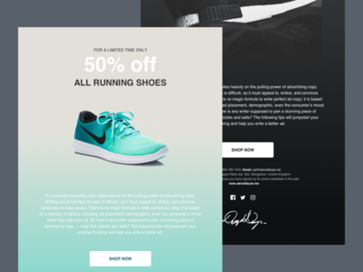 Shoe Store - Email Newsletter Designs