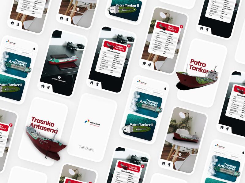 Pertamina Augmented Reality App augmented reality ui mobile user interface