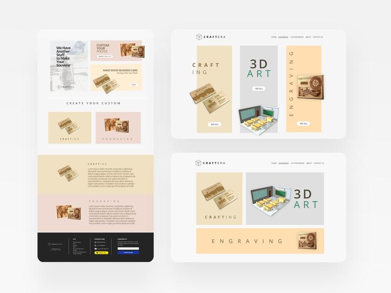 Craftera Landing Page website ui design ui