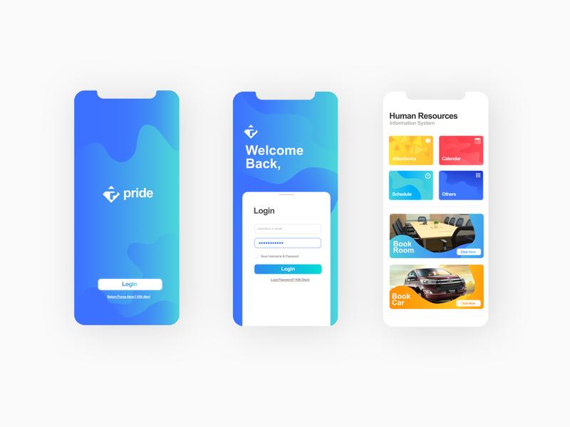 Pride Mobile App ui design user interface mobile