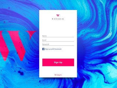 Daily UI 001 user interface daily ui ux logo color form typography simple design graphic