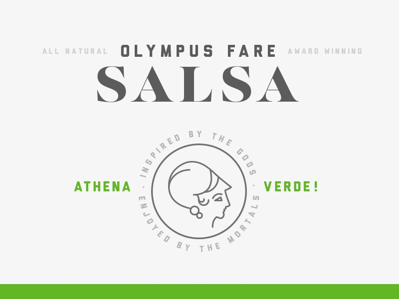 Olympus Fare Salsa michigan mark graphic identity story branding salsa color food type typography logo