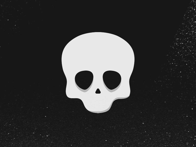 Skull symbol skull logo illustration icon head graphic eyes design