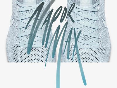 Nike Air Vapormax site digital logo blue 2d design font sport typography print shoes nike