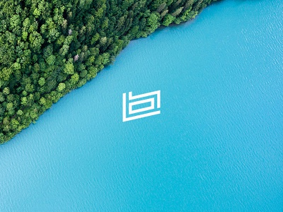Berceuse green blue graphic design nature type typography icon logo
