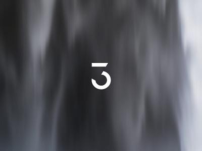 Tinction3 iceland waterfall design nature type typography icon logo