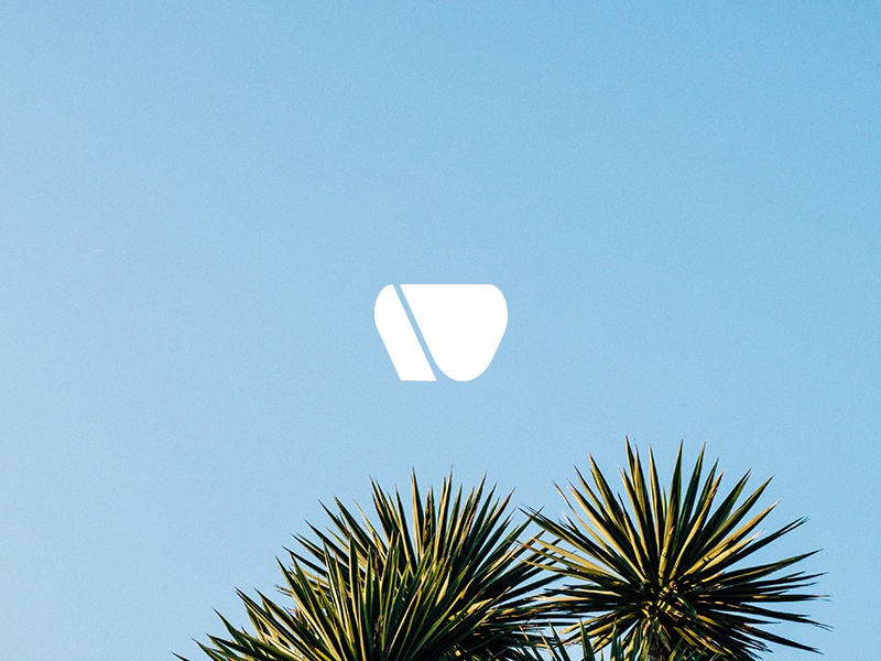 Azure tropical beach graphic design nature type typography icon logo