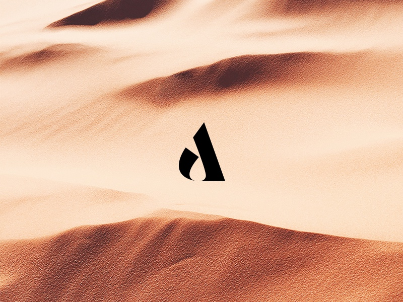 Armure desert sand nature graphic design color type typography icon logo