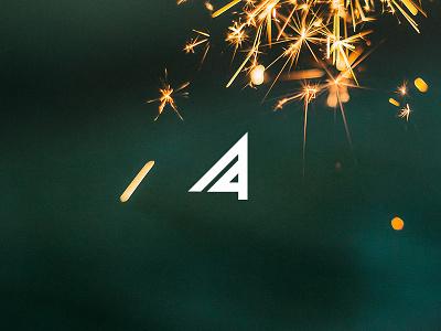 Fulgent graphic fireworks design typography icon type logo