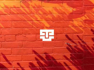 Tanti illustration design architecture brick orange typography type icon logo