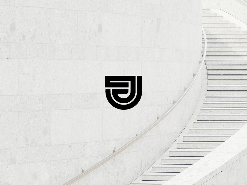 Jest graphic illustration minimal j architecture design icon logo