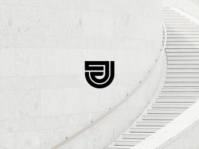 Jest graphic illustration minimal j architecture design icon logo