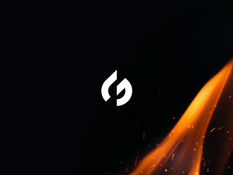 Girasol ignite flame graphic illustration minimal fire design icon logo
