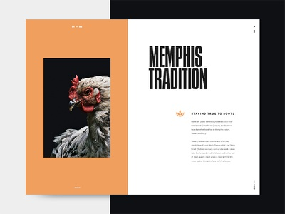Gus' Page Layout typography graphic design page food logo icon digital layout chicken