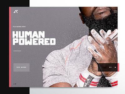 Flexweave Homepage typography digital web homepage graphic design icon crossfit reebok sports