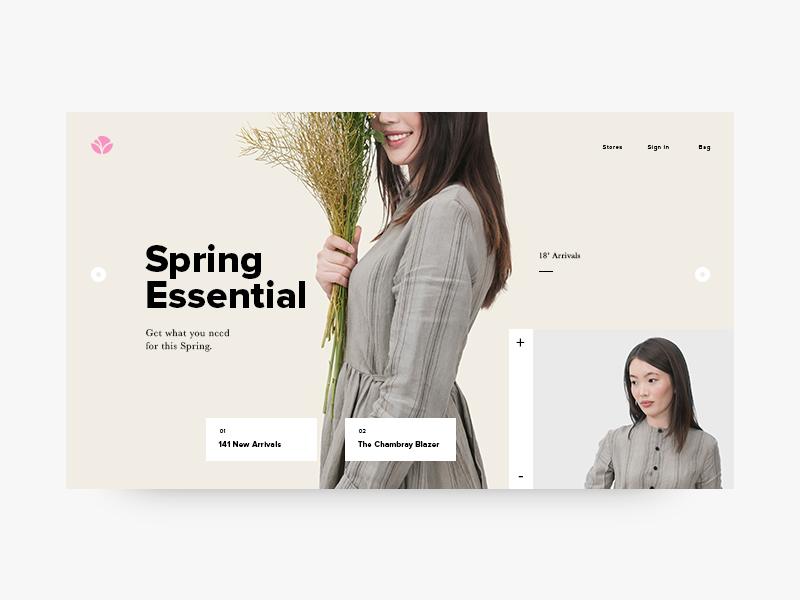 Floral Splash logo icon typography design graphic web digital website