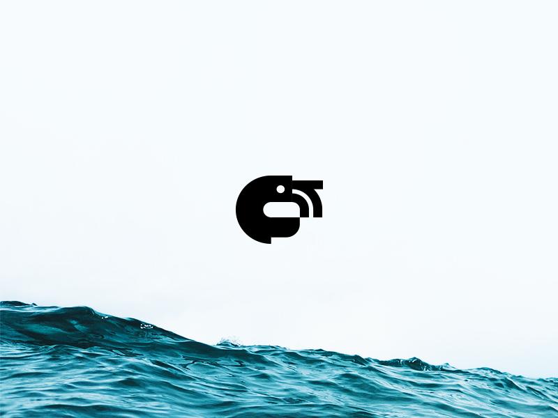 Catena design graphic digital prawn shrimp ocean icon logo