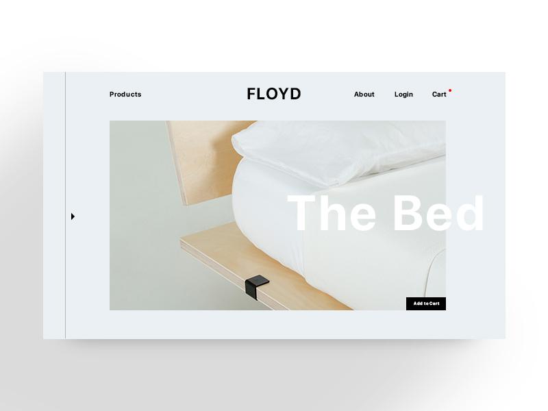 FLOYD ux ui furniture branding brand logo web digital website