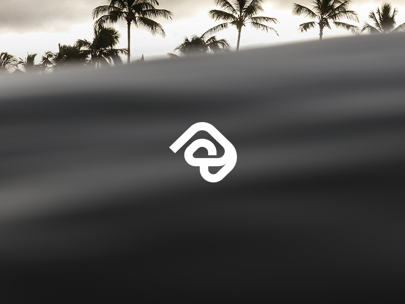 Wave abstract surf tropical ocean web digital type icon logo