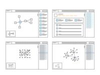 Big Data Analysis Tool Wireframes