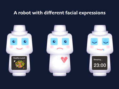 Robot with faicial expressions