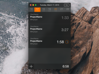 Yosemite Project Timer fictional ui
