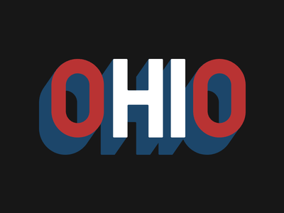 oHIo typography ohio cottonbureau shirt
