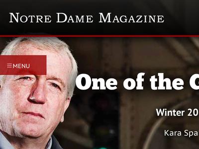 Notre Dame Magazine - News item navigation